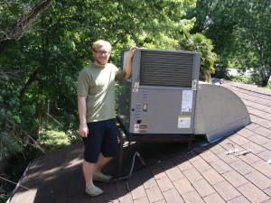 Air Conditioning Installation and Repair New AC unit satisfied customer
